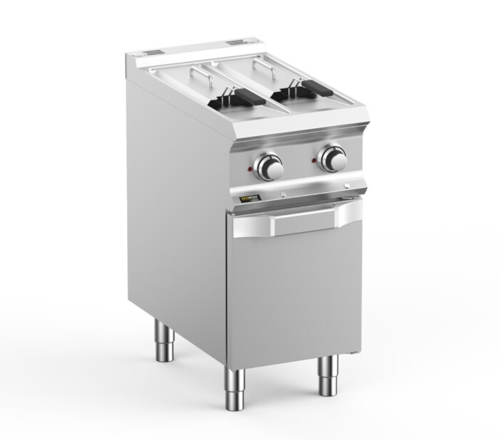 Hobart Ecomax HEFRE74A2V  Double Well Freestanding Electric Fryer - 2 x 7 Litres