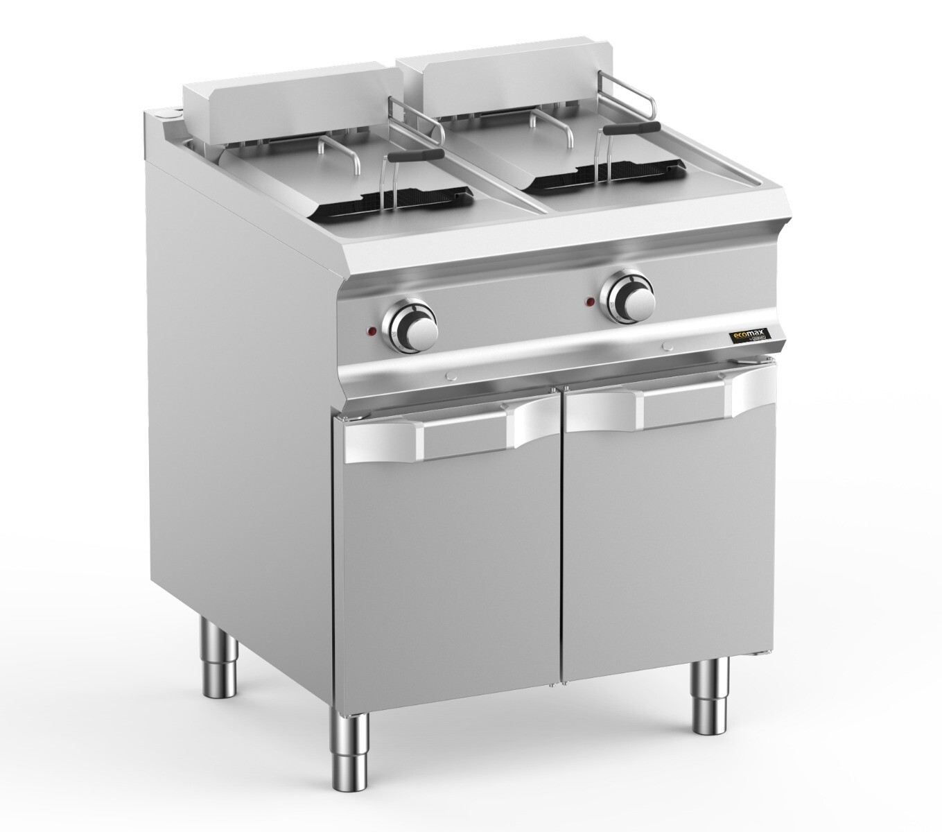Hobart Ecomax HEFRBE77A  Double Well Freestanding Electric Fryer 2 x 12 Litres