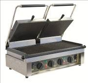 Roller Grill MAJESTIC R Twin Cast Iron Ribbed Top & Bottom Contact Grill