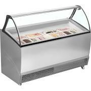 ISA BERMUDA RV10 Grey 10 Pan Ventilated Scoop Ice Cream Display
