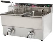 Pantheon PFT82 Double Basket Fryer with Tap