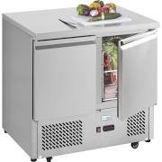 Interlevin ESL900 2 Door Gastronorm Counter Fridge 3