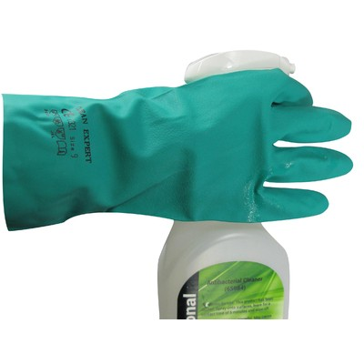 --- GOMPELS 85348 --- Heavy Duty x12 Pairs of Green Nitrile Gloves - Large