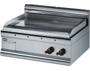 Lincat GS7R Silverlink 600 Gas Half Ribbed Steel Plate Griddle