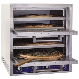 Bakers Pride P44S Electric Pizza Oven with Four Stone Base & Twin Doors