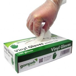 --- GOMPELS 67045 --- Powder-Free Proform Vinyl Gloves - Small