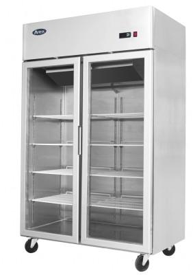 Atosa YCF9402GR Stainless Steel Twin Door Display Refrigerator