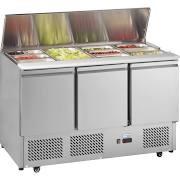 Interlevin ESA1365 3 Door Gastronorm Saladette Counter Fridge 3