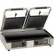 Roller Grill MAJESTIC VCL Twin Contact Grill Flat Base, Rib Top