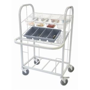 Craven CCDT-2 Mobile Condiment & Cutlery Dispense Trolley