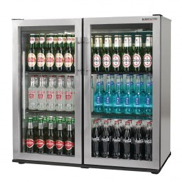 Autonumis A210107 Popular Maxi Stainless Steel Hinged Door Bottle Cooler