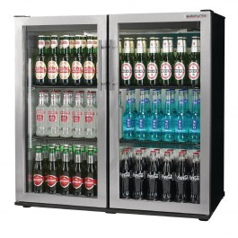 Autonumis A21090 Popular Maxi Black with Stainless Hinged Door Cooler