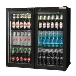Autonumis A215179 Popular Black Hinged Double Door 3 Foot Bottle Cooler
