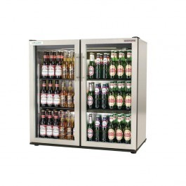 Autonumis A215203 EcoChill 3ft Stainless Steel Double Door Bottle Cooler