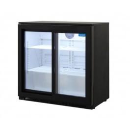Arctica HEC818 Double Sliding Door Black Bottle Cooler