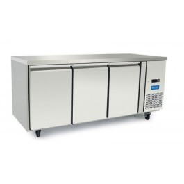 Arctica HED497 Three Door GN 1/1 Refrigerated Prep Counter - 420 Litres