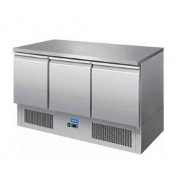 Arctica HED500 Three Door Compact Refrigerated Prep Counter - Width 1365mm