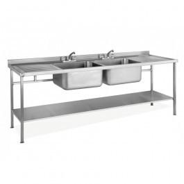 Parry SINK1860DBDD Double Bowl Double Drainer Sink