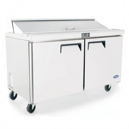 --- Atosa MSF8303 --- Twin Wide Door Counter with 6 x 1/3 GN Pans & Cutting Board