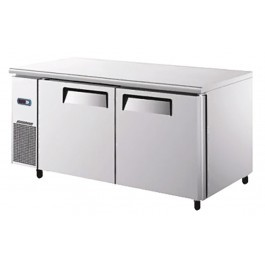 --- ATOSA YPF9027GR --- Twin Narrow Door Slimline Counter Freezer