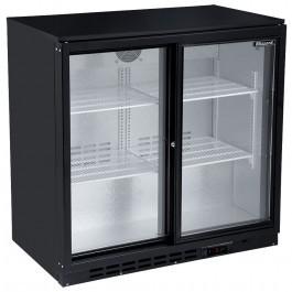 Blizzard BAR2SL Back Bar Black Sliding Door Bottle Cooler