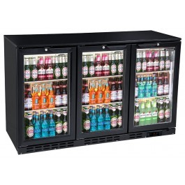 Blizzard BAR3 Back Bar Black Hinged Bottle Cooler
