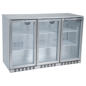 Blizzard BAR3SS Back Bar Stainless Steel Hinged Door Bottle Cooler