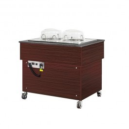 Blizzard BB1000PLATE-WE Wenge Heated Mobile Plate Dispenser