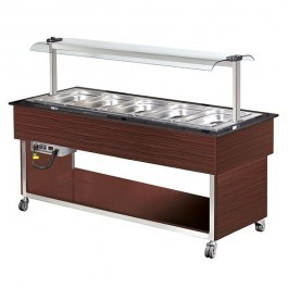 --- BLIZZARD BB5-COLD-WE ---  Wenge Cold Display with Granite 5 GN 1/1 Top & Canopy
