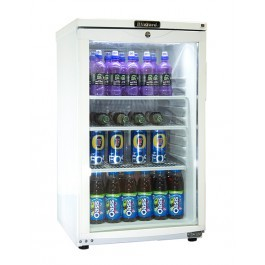 --- BLIZZARD BC105 --- Undercounter Glass Door White Display Cooler