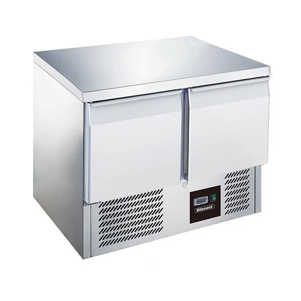 --- BLIZZARD BCC2 --- Twin Door GN 1/1 Counter 240 Litre Refrigerator