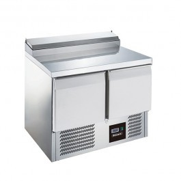 Blizzard BCC2EN Twin Door 240 Litre Gastronorm Prep Counter with Collar