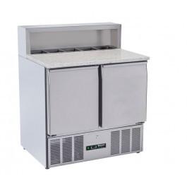Blizzard BCC2PREPGRANITE-ECO Two Door Refrigerated Pizza Prep Counter