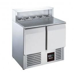 Blizzard BCC2PREPGRANITE Twin Door GN 1/1 Pizza Prep Counter -  240 Litre