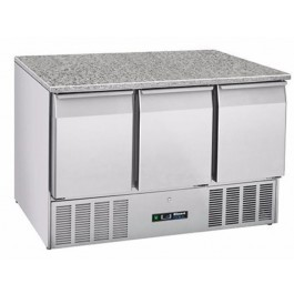 --- BLIZZARD BCC3-GR-TOP-ECO --- Triple Gastronorm Fridge with Granite Worktop