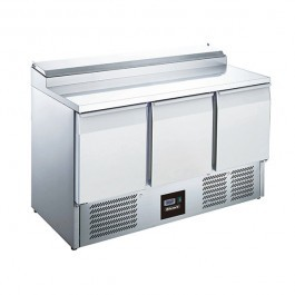 Blizzard BCC3EN Three Door 392 Litre Gastronorm Prep Counter with Collar