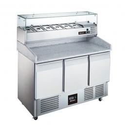 --- BLIZZARD BCC3PIZZA --- 3 Door 368 Litre Gastronorm Pizza Prep Refrigerator