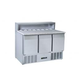 Blizzard BCC3PREPGRANITE-ECO Three Door Refrigerated Pizza Prep Counter