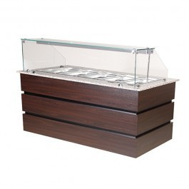 Blizzard BCD1890 Flat Glass Wenge 5 x GN 1/1 Cold Display Counter