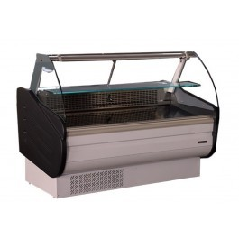 Blizzard BCG130WH White Serve Over Counter with Curved Display Glass