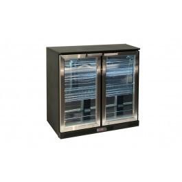 Atosa BDS-210 Black Stainless Steel Undercounter Double Door Bottle Cooler