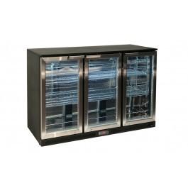 Atosa BDS-310 Black Stainless Steel Undercounter Triple Door Bottle Cooler