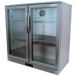 Belmont BC9007G Hinged Double Door Bottle Cooler with LED Lighting