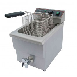 Blizzard BF8 Single Tank Countertop Electric Fryer with Drain Tap