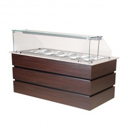 Blizzard BHD1890 Wenge 5 x GN 1/1 Hot Display Counter with Granite Top