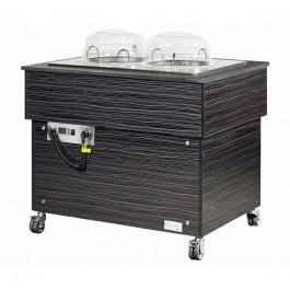 --- BLIZZARD BB1000PLATE --- Black Heated Mobile Plate Dispenser