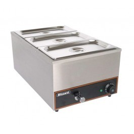 --- BLIZZARD BBM1 --- Wet GN 1/1 Bain Marie with 3 Containers & Lids