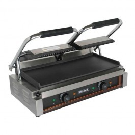 Blizzard BRSCG2 Double Contact Grill with Ribbed Top & Flat Bottom Plate