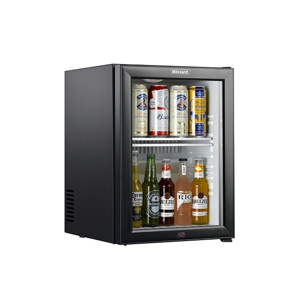 Blizzard BMB40G Black Minibar with Glass Door & LED Lighting