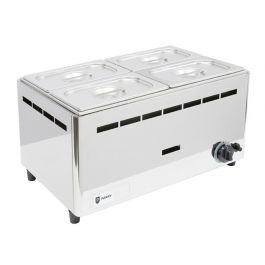 Parry BMF1/1G Natural or Propane Gas Wet Heat Bain Marie with Pans